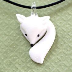 Adorable! Glass Fox Necklace