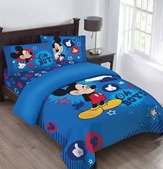 Disney Mickey Mouse Clubhouse 3 Piece Full bedding comforter. Features Size…