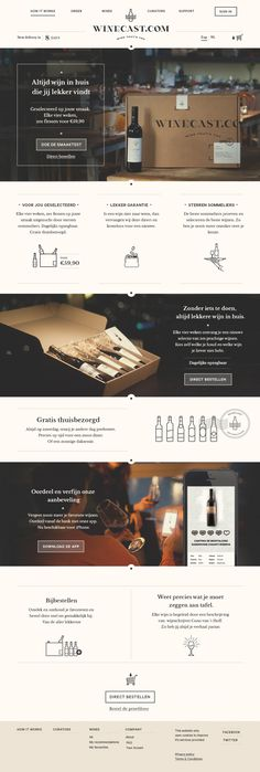 B Cnr / Winecast redesign on Behance — Designspiration #webdesign