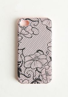 Lacy Petals Iphone Case 14.99 at shopruche.com. Stylish and practical, this iPhone cover features a durable construction with a blush design.Fits iPhone 4 and 4S.