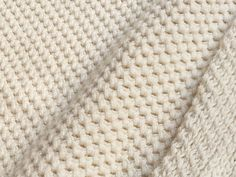 Image of Natural White Honeycomb Jersey (by the half yard)