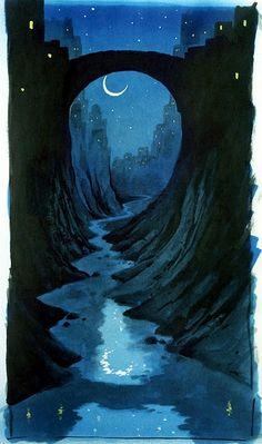 nighttime stream
