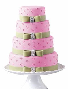 Pink and green cake...fun but classy!