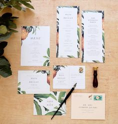 Tropical Wedding Stationery Suite by Rachel Marvin Creative Island Wedding Creative Wedding Invitations, Destination Wedding Invitations, Wedding Stationary, Wedding Invitation Templates, Wedding Planning, Carton Invitation, Invitation Set, Invitation Design, Invites