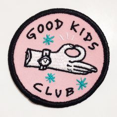 Good Kids Club patch / bade / applique / nerd / goober / square / preppy