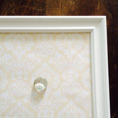 Shabby Chic Magnetic Board PINBOARD Yellow White by belou492, $30.00