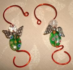 Red Green Silver Christmas Ornament Hanger Hooks by JustHangOn