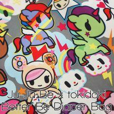 Ju-Ju-Be x tokidoki Better Be Diaper Bag Ju Ju, Diaper Bag, Minnie Mouse, Disney Characters, Fictional Characters, Doodles, Glitter, Blog, Art