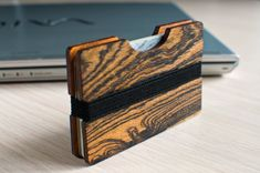 Your place to buy and sell all things handmade Edc Wallet, Slim Wallet, Card Wallet, Card Case, Handmade Wooden, Handmade Gifts, Key Organizer, Baltic Birch Plywood, Carbon Fiber