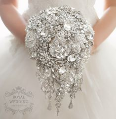 Bridal Bouquet Brooch Bouquet Wedding Bouquet Crystal Bridesmaids Bouquet Wedding Band Cascading Bouquet Keepsake Bouquet Jewelry Bouquet by RoyalWeddingDecore on Etsy https://www.etsy.com/listing/475058028/bridal-bouquet-brooch-bouquet-wedding