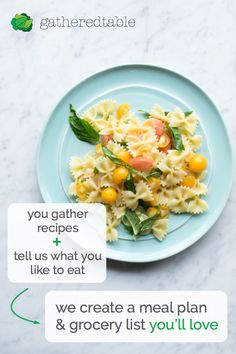 The only meal planner that is totally personalized and easy to edit. Try it free at gatheredtable.com