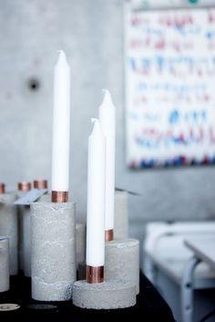 DIY Kandelaars | Beton | Woonblog  by Flow Design