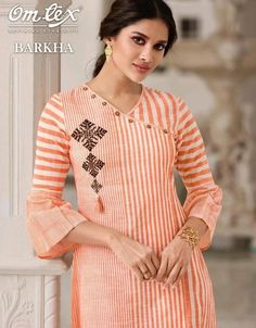 Omtex Barkha Designer Cotton Readymade Kurtis Collection at Wholesale Rate