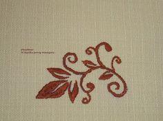 Haft plaski - kwiat narożny na serwetę