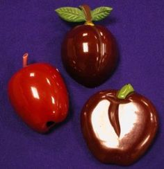 Three Bakelite Fruit Brooches