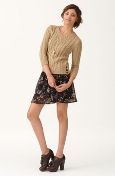 Want a patterned mini skirt to go with tights/leggings