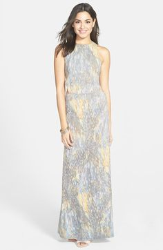 RVCA 'Outer Reeches' Cutout Maxi Dress available at #Nordstrom