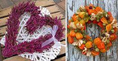 20 inspirací na podzimní dekorační věnce na dveře