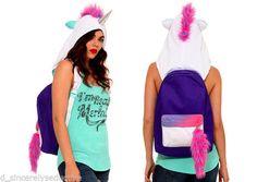 NWT✿Hot~Topic✿Unicorn✿Hooded✿Backpack✿School Bag HOOD✿Punk✿Gothic+Torrid~Bow  #hottopic #Backpack