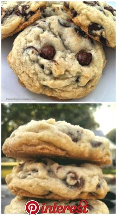 Pure Nirvana - Chocolate Chip - Ideas of Chocolate Chip - Delicious chocolate chip cookies! Basic Cookie Recipe, Basic Cookies, Easy Cookie Recipes, Cookie Recipes From Scratch, Snack Recipes, Cookies Soft, How To Make Cookies, Chocolate Chip Granola Bars, Sweets