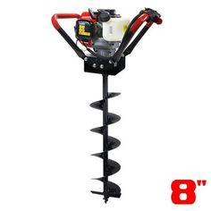 "Amazon.com : XtremepowerUS V-Type 55CC 2 Stroke Gas Post Hole Digger One Man Auger (Digger + 6""Bit) : Air Tool Fittings : Patio, Lawn & Garden"