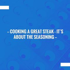 Take a look at my blogpost, folks👇 Cooking a Great Steak – It's about the Seasoning https://www.personalchef.blog/?p=649