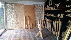 adelaparvu.com despre accesori din lemn si MDF, trafoare, paravane, stalpi, coloane Gold Concept Store (42)