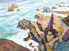Patrick's Point, California art by John Norman Stewart. HD giclee art prints for sale at CaliforniaWatercolor.com - original California paintings, & premium giclee prints for sale