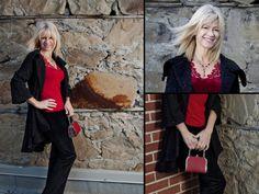 Blouse, coat, purse, earrings, necklace, and bracelets from Twigs. http;//www.twigs.ca Twigs Lookbook