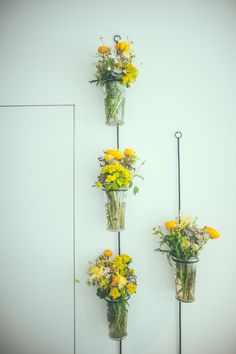 yellow and white bouquets, wildflowers, yellow flowers, spring flowers, white flowers, waxflower, ranunculus