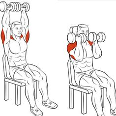 8 Amazing Shoulder Exercises - WeGrowMuscle More about losing weight . - 8 Amazing Shoulder Exercises – WeGrowMuscle There& more to lose weight interesting-ding … - Fitness Workouts, Gym Workout Tips, Sport Fitness, Dumbbell Workout, Muscle Fitness, Mens Fitness, At Home Workouts, Fitness Tips, Health Fitness