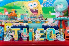 Spongebob Birthday Party, 2nd Birthday Parties, Boy Birthday, Bean Bag, Party Planning, Kids, Crafts, Blog, Themed Parties