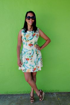 TROPICAL DRESS #fashion, #streetstyle, #tropical print, #dress, #springdress, #spring,#spring15, #ootd, #outfits for spring