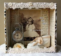 """""""Little Miss Muffet Shadow Box"""""""