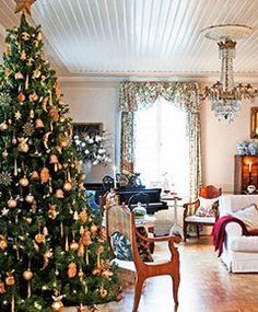 A home in Finland, beautifully decorated for Christmas ~