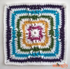The Windmill Square - Block #3 for the 2015 Moogly Afghan CAL! #MooglyAfghan2015CALBlock