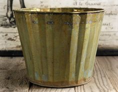 Scalloped Metal Planter Pot 6in $6.99 http://www.save-on-crafts.com/scalloped-metal-planter-pot-6-in.html