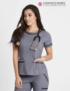 The Ladder Lace Top in Graphite is a contemporary addition to women& medical scrub outfits. Shop Jaanuu for scrubs, lab coats and other medical apparel. Scrubs Outfit, Scrubs Uniform, Cute Scrubs, Medical Uniforms, Hospital Uniforms, Womens Scrubs, Medical Scrubs, Nursing Clothes, Fashion Clothes