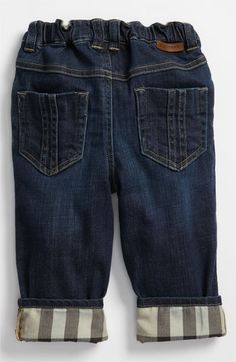 Burberry Check Lined Jeans (Baby) available at #Nordstrom