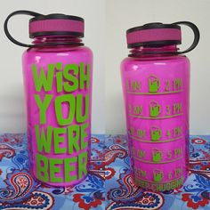 Ready To Ship Water Bottle, Training Water Bottle, Gym Water Bottle, wish you were beer water tracker bottle, beer drinker water bottle Gym Water Bottle, Cleaning With Bleach, Custom Water Bottles, Beer, Training, Ship, Awesome, Etsy, Root Beer