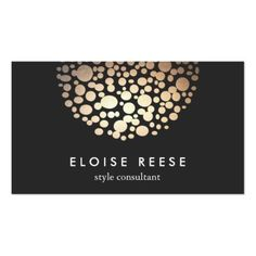 Modern Chic Gold Circles Stylist & Designer Double-Sided Standard Business Cards Pack Of 100