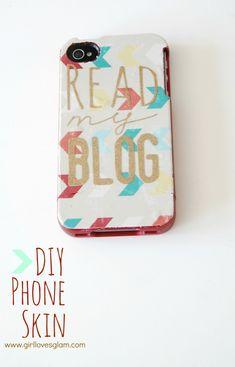 DIY Printed Phone Cover Skin