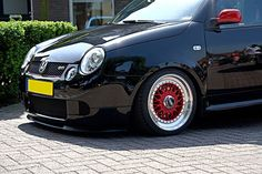 VW Lupo GTI on red BBS RS