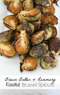 It's a Lovely Life™ Travel, Recipes, So Cal Lifestyle, Mom Talk | Brown Butter and Rosemary Roasted Brussel Sprouts {with vegan instructions too!}