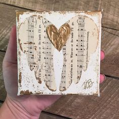 Angel wings art - Angel wing art Angel painting Old hymns Hymnal page art Mixed media Vintage hymnal Sheet music Original art by Haley Bush Sheet Music Crafts, Sheet Music Art, Vintage Sheet Music, Vintage Sheets, Angel Wings Art, Angel Art, Angel Wings Painting, Angel Paintings, Book Crafts