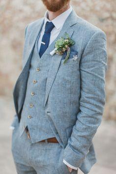 Yelena and Liam' 39 guest destination Greece wedding. HannaMonika Photography. See more..... @intimateweddings.com #boutonniere . . . . . der Blog für den Gentleman - www.thegentlemanclub.de/blog