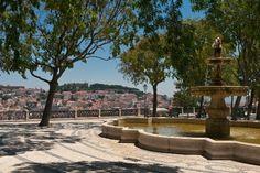 Lisbon, Portugal: Miradouro Sao Pedro de Alcantara