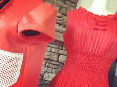 Works in red today!  @cathyjanedesigns  #dressmaker  #embroideryartist  #emergingartists  #emergingdesigner #nzfashion