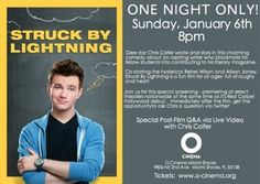 O Cinema to present 'Sing-a-long Wizard of Oz,' 'Struck by Lightning' starring Chris Colfer of 'Glee'