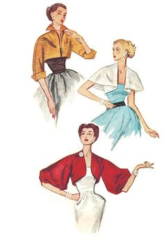 Simplicity 3746 UNCUT Vintage 50s Lovely Set of by PatternPlaying, $32.00